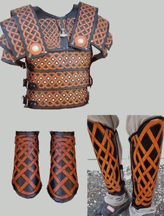 Leather armor with Celtic knot work. http://www.valhallaleathercraft.com/