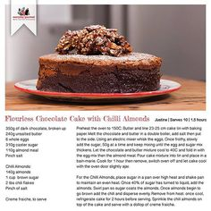 Rainbow Gospel Radio | Flourless Chocolate Cake with Chili Almonds