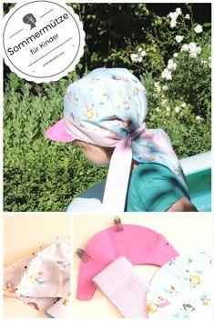 DIY: Sommermütze für Kinder nähen / Sommermütze mit Sonnenschild und Nackenschutz - Schritt-für-Schritt-Anleitung zum Nähen der Mütze