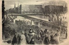 THE TWENTIETH UNITED STATES - COLORED TROOPS RECEIVING THEIR COLORS ON UNION SQUARE. MARCH 5, 1864.—[SEE PAGE 187.]