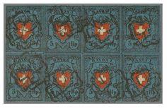 Peter Rapp AG - Internationale Briefmarkenauktionen - Spitzenergebnisse 2014 /     Achterblock der Rayon I dunkelblau – der Burrus-Block. Verkaufspreis*: 26'840.–