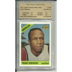 TFA 10 GEM MINT Frank Robinson 2002 #158 Archives of Topps #310 1967 Orioles Listing in the Graded,2000-2010,Singles,MLB,Baseball,Sports Cards,Sport Memorabilia & Cards Category on eBid United States | 147730076