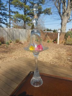 Elegant Crystal Plate Stand With Bell by twelvetribesofexodus, $19.00