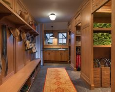 Gorgeous Mudroom Design!!!! Love the beautiful wood finishes, the large size, etc....Design, Pictures, Remodel, Decor and Ideas - page 56
