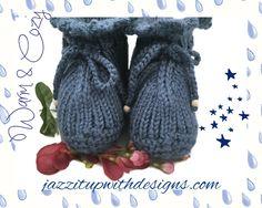 Extra thick Elf Slipper Socks for Women Caron Simply Soft Country Blue #smallbizsaturday #cybermonday