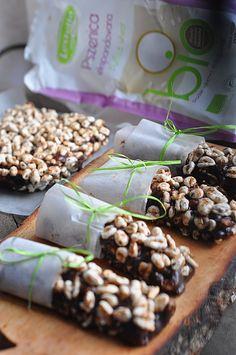 Batoniki kakaowe z pszenicą #Lestello