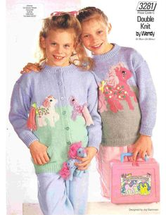 Knit Toddler My Little Pony Cardigan and Sweater by OhhhBabyBaby