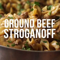 One Skillet Ground Beef Stroganoff Ground Beef Stroganoff Related posts: Ground Beef Stroganoff Creamy Beef Stroganoff with GROUND BEEF! Zucchini Ground Beef Skillet Easy Ground Beef Stroganoff is so unbelievably creamy thanks to a few secret ing… Casserole Recipes, Meat Recipes, Dinner Recipes, Cooking Recipes, Healthy Recipes, Beef Noodle Casserole, Minced Beef Recipes, Egg Noodle Recipes, Macaroni Recipes