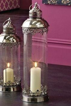 Elegant lanterns via next.co.uk