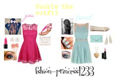 """""""double the outfit"""" by fashion-princess1233 ❤ liked on Polyvore featuring Chinese Laundry, belle by Sigerson Morrison, VC Signature, BCBGMAXAZRIA, Wet Seal, Henri Bendel and Zoya"""