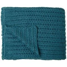 A plush throw blanket is a college dorm essential! Chesterfield Teal Ocean Decorative Throw Blanket from Lamps Plus.