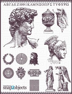 This Roman Vector Pack with elements about Roman and Greek Culture, was the of the most complicated design of all until now but I'm sure you will enjoy this as . Roman Drawings, Tattoo Drawings, Art Drawings, Statue Tattoo, Future Tattoos, Tattoos For Guys, Montain Tattoo, Tattoo Muster, Poses References