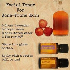 Facial toner for acne prone skin