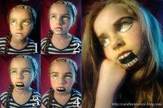 Tutoriel maquillage poupée diabolique - La vie d'une maman organisée (ou pas... !)