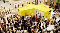 """8 海澜之家-橱窗互动体验装置  2015年9月18日,十乘十与琥珀传播(Amber Communications)合作,在上海环球港购物中心为海澜之家的新品发布会打造了""""+""""号橱窗体验装置。这是十乘十将动态雕塑与橱窗展示相结合的一次成功的艺术实践。"""