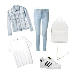 """Jeans"" by abecic ❤ liked on Polyvore featuring RVCA, Frame Denim, adidas Originals, PB 0110 and Banana Republic"