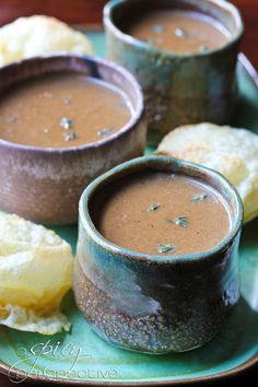 Creamy Onion Soup   ASpicyPerspective.com #soup #onion #fall