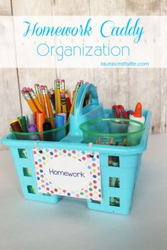 My son started second grade last Monday and we are back to the grind with doing homework nightly. To stay organized and have everything we need at homework time, I created a homework caddy with all the necessary supplies. This way, there are no excuses once we sit down to do homework at night. We have been using this system since last year and it works great! I purchased this caddy from Family Dollar. It . . .   Continue reading →