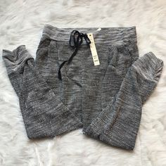 "Lightweight Knit Joggers Cute joggers with bottom cuff design and drawstring at waist. ""Juniors"" size large, so would also fit as a women's medium.  Happy Poshing! (x trade) Love Nation Pants Track Pants & Joggers"