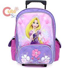 #Clare.  Wants this desperately.  Disney Tangled Rapunzel School Roller Backpack Large Rolling Bag 1.jpg