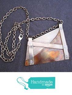 Mixed Metals Large Pendant Necklace from FirednWiredJewelry http://www.amazon.com/dp/B0193FEJ7M/ref=hnd_sw_r_pi_dp_oW2zwb02HRYAJ #handmadeatamazon