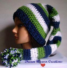 Seahawks hat pixie hat stocking hat Seahawks by DreamWeaverCreates
