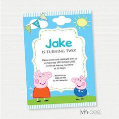 Peppa Pig Birthday Invitation  DIY Printable by vindee on Etsy, $14.00