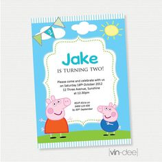 Peppa Pig Birthday Invitation DIY Printable By Vindee On Etsy 1400 Invitations