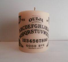 Vanilla Scented Ouija Board Candle  Beige by BellaMortaJewelry, $5.99