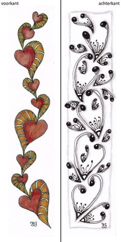 bladwijzer 8 Zentangle, Bookmarks, Playing Cards, Zentangle Patterns, Marque Page, Playing Card Games, Zentangles, Game Cards, Playing Card