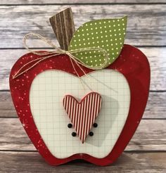 """Apple - September """"Home"""" Interchangeable """"O"""" Wood Decor by ScrapHappyPagesStore on Etsy September Decorations, Apple Kitchen Decor, Wood School, Wood Craft Patterns, Small Wood Projects, Vinyl Projects, Apple Decorations, Great Teacher Gifts, Fall Crafts"""