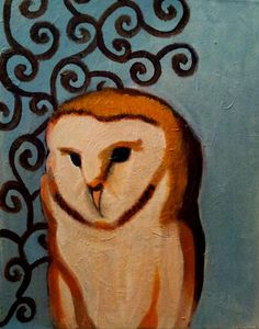 "Barn Owl 16""x20"" Acrylic on Canvas (Vanessa Porter Art)"