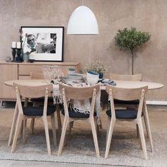Krzesło Ami 48x80 cm ciemnoszare-bielone row113023 » Rowico - sfmeble.pl Dining Table, Furniture, Home Decor, Decoration Home, Room Decor, Dinner Table, Home Furnishings, Dining Room Table, Home Interior Design