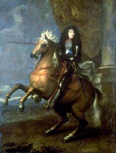 Louis XIV Equestrian Portrait, 1668, Oil on canvas, Musée de la Chartreuse, Douai. Charles Le Brun