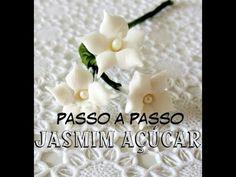Flor de Pasta Americana FÁCIL, LINDA e RÁPIDA (Jasmim de Açúcar) - YouTube