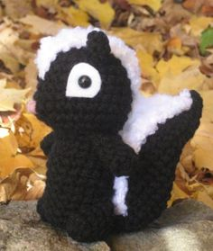 Crochet Skunk Pattern - available in More Cute Little Animals