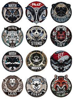 Amazing Illustrated Medallions   Abduzeedo Design Inspiration & Tutorials