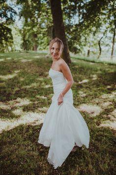 Wedding in Forest Forest Wedding, One Shoulder Wedding Dress, Wedding Dresses, Photography, Fashion, Bride Dresses, Moda, Bridal Gowns, Photograph