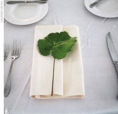 Perfect way to fit a four leaf clover into the decor :)