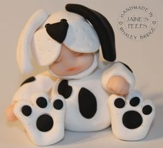 """Handmade in polymer clay and approximately 3"""" tall  For more details visit www.jaine.co.uk"""