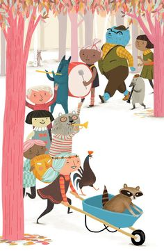 artwork by Jen Hill - Procession #illustration