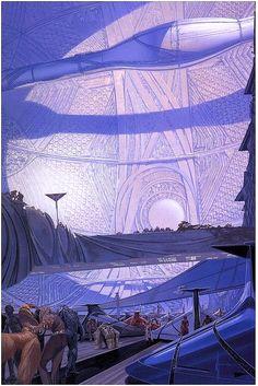 Inside an Artificial World.  #ArtificialWorld  #SpaceCity