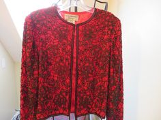 Beautiful Silk, Fully Beaded Evening Jacket by Papell Boutique on Etsy, $28.00
