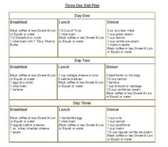 Cleveland Clinic 3 Day Diet by Lensia