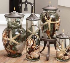 "Lifetime Oil Burning ""Seashell"" Theme Candles"
