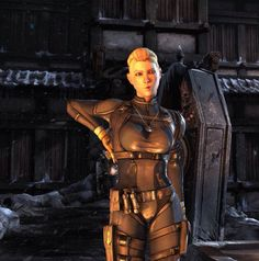 Cassie Cage Bubble Head Fatality putting gun away