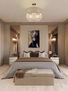 50 Luxury Bedroom Design Ideas that you Definitely want for your Dream Home Design # Luxury Bedroom Design, Bedroom Bed Design, Home Decor Bedroom, Bedroom Ideas, Bedroom Furniture, Modern Luxury Bedroom, Rustic Furniture, Luxury Furniture, Bedroom Styles