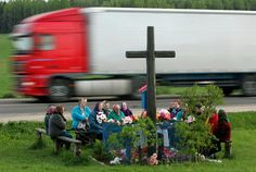 in the city a funeral is just an interruption of traffic; in the country it is a form of popular entertainment ― george ade | urban #highway #gardening | belarus 2014