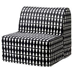 LYCKSELE MURBO Chair-bed Ebbarp black/white IKEA