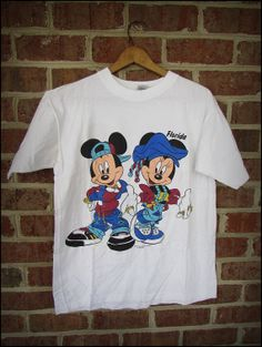Vintage 90's Mickey and Minnie Mouse Hip Hop Shirt by CharchaicVintage, $16.00